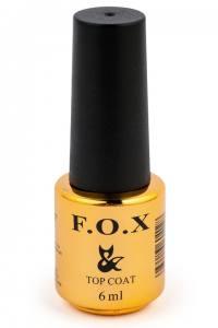 Топовое покрытие для ногтей F.O.X Top No wipe без липкого слоя