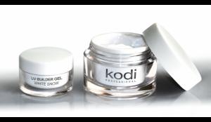 Гель для ногтей Kodi UV Builder Gel White Snow (Конструирующий Снежно-Белый Гель) 14мл
