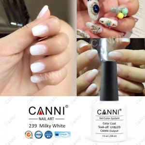 Гель-лак Canni №239 молочно-белый 7.5мл