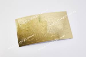 Метал наклейка серебро №36з