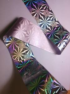 Фольга 1м серебро №43