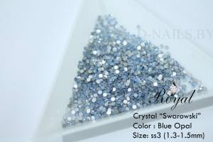 Cтразы blue opal ss3 100шт