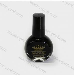 Лак-краска для стемпинга Master 10мл черная
