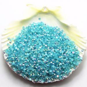 Стразы для ногтей пластик 2мм голубой хамелеон