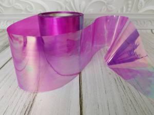 Фольга битое стекло 1м Малиновая