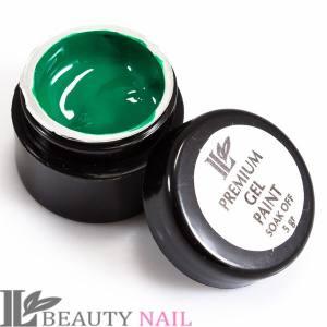 Гель-краска Beauty nail №15 зелёная