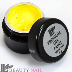 Гель-краска Beauty nail №14 жёлтая