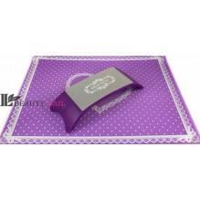 Подставка для маникюра Arm Rest с ковриком фиолетовая