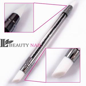 Кисть силиконовая кристалл Beauty-Nail черная