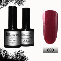 Гель-лак Premium Светло-бордовый с брокатом (8ml) 600