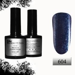 Гель-лак Premium Синий с брокатом (8ml) 604