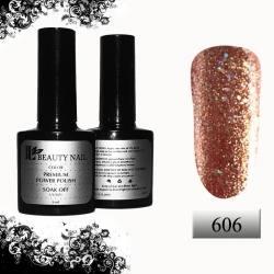 Гель-лак Premium Золотой с крупным и мелким брокатом (8ml) 606