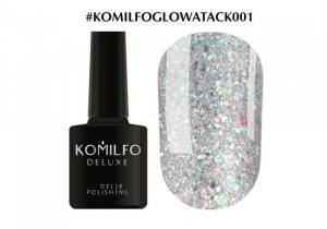 Гель-лак Komilfo Glow Attack 001 8мл серебро голографик