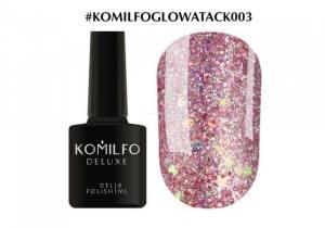 Гель-лак Komilfo Glow Attack 003 8мл розовое золото голографик