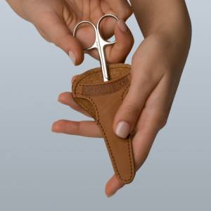 Кожаный чехол для маникюрных ножниц ЧМ-02