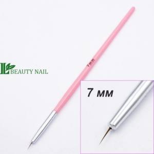 Кисть для рисования пластик розовая 7мм