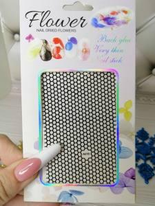 Наклейка для дизайна ногтей A018 сеточка черная