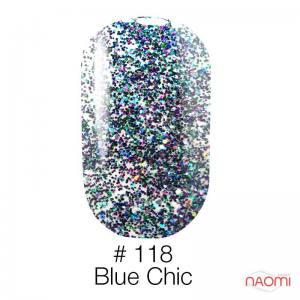 Гель-лак Naomi 118 Blue Chic, 6 мл