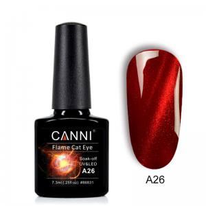 Гель-лак CANNI Огненный кошачий глаз №А26 (темно-красный)