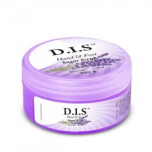 Сахарный скраб для рук и ног DIS Nails 350г Лаванда и орхидея