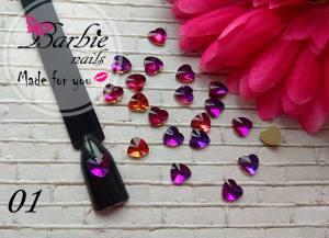 Стразы фигурные стекло BarbieNails 1шт №1