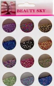 Набор микс цветных бульонок для дизайна ногтей 12 шт