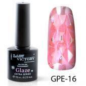 Витражный гель-лак Lady Victory Glaze №16 светлый розовый