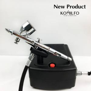 Аэрограф Komilfo AR-001 с компрессором AC-001  комплект