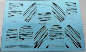 Водный слайдер Имитация аэрографии 92 черный