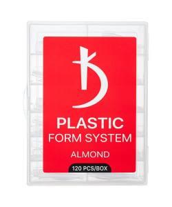 Верхние формы для моделирования ногтей миндаль Kodi Almond, 120 шт/уп