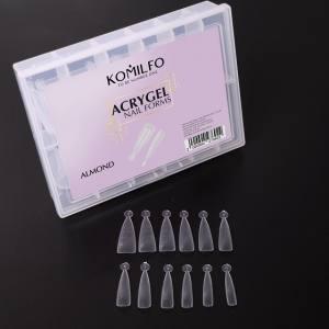 Верхние формы для наращивания, миндаль, 120 шт Komilfo Top Nail Forms, Almond