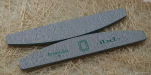 Пилка IBD Emerald File пилка для натуральных  ногтей 180/180, полукруг