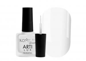 Лак для ногтей Komilfo ArtiLux 001 с тонкой кисточкой  белый, эмаль  8 мл