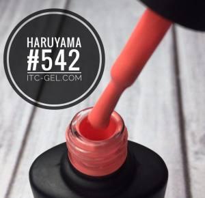 Гель-лак Haruyama Классика №542, теплый ярко-розовый, 8 мл