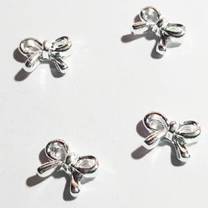 Металлические фигурки 30 Бантик серебро (10шт)