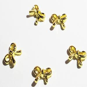 Металлические фигурки 29 Бантик золото (10шт)