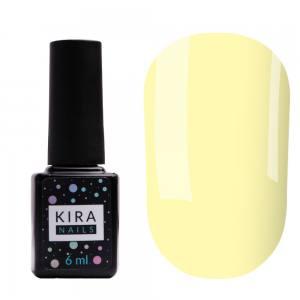 Цветная база Kira Nails Color Base 004 (банановый желтый), 6 мл