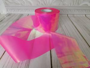 Фольга битое стекло 1м Яркая Розовая