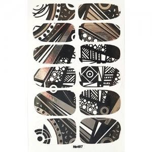 Самоклеющаяся наклейка для ногтей 407