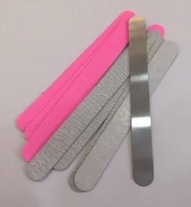 Металлическая прямая пилка со сменными файлами (12 штук )