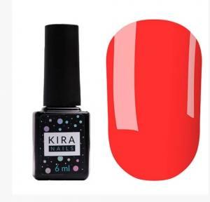 Гель-лак Kira Nails №172 (коралловый, неоновый), 6 мл