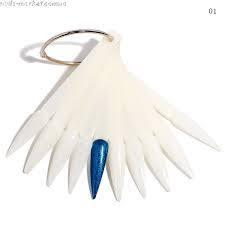 Планшет для образцов веер острый ноготок 50шт на кольце матовый