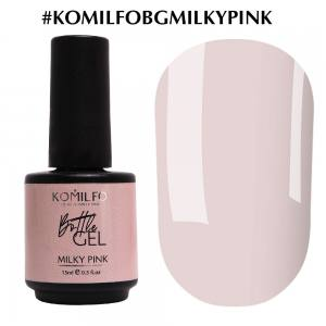 Komilfo Bottle Gel Milky Pink, 15 мл, с кисточкой