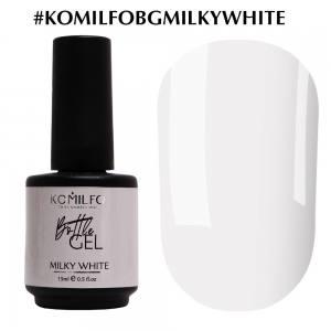 Komilfo Bottle Gel Milky White, 15 мл, с кисточкой
