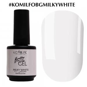 Komilfo Bottle Gel Milky White, 15 мл, с кисточкой