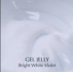 Гель для наращивания белый Komilfo Gel Jelly Bright White Violet