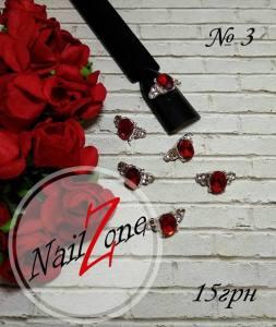 Брошь для ногтей Nail Zone №3 (1шт)