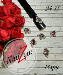 Брошь для ногтей Nail Zone №35 (1шт)