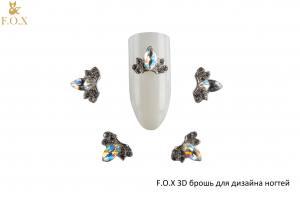3D-брошь для дизайна ногтей F.O.X №3 Stone Drop