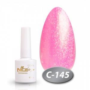 Гель-лак Nice серия cool C145 8.5мл розовый перламутр